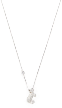 Elizabeth Showers Women's Silver & White Sapphire Aries Zodiac Necklace
