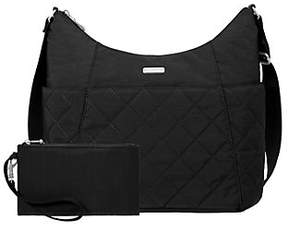 Baggallini Quilted Hobo Tote with RFID Wristlet