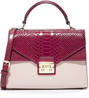 MICHAEL Michael Kors Medium Thela Satchel - MULBERRY/SOFT PINK - STYLE
