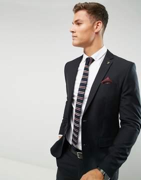 Farah Smart Skinny Suit Jacket In Black