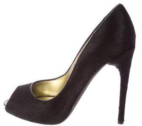 Tom Ford Ponyhair Peep-Toe Pumps