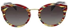 Prada Grey Gradient Round Sunglasses
