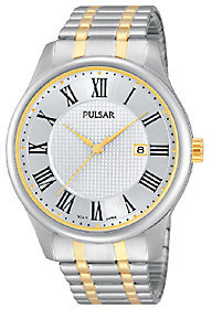 Pulsar Men's Two-Tone Expansion Band Watch
