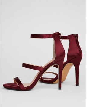 Express satin heeled sandals
