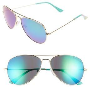 Lilly Pulitzer Women's Lexy 59Mm Polarized Aviator Sunglasses - Blue