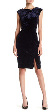 ECI Crushed Velvet Cap Sleeve Dress