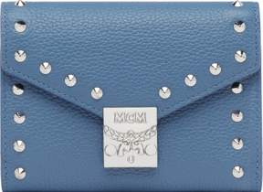 MCM Patricia Three Fold Wallet In Studded Outline Leather