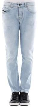 Diesel Black Gold Men's Light Blue Cotton Jeans.