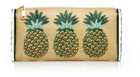 Edie Parker Lara Jumbo Raffia & Acrylic Pineapple Clutch