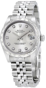 Rolex Oyster Perpetual Datejust 31 Silver Dial Stainless Steel Jubilee Bracelet Automatic Ladies Watch