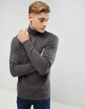 Esprit Cashmere Mix Sweater With Half Zip Neck