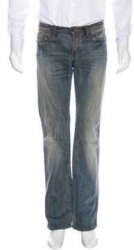 Just Cavalli Distressed Straight-Leg Jeans