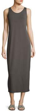 Eileen Fisher Scoop-Neck Sleeveless Jersey Long Dress