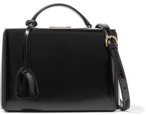 Mark Cross Grace Small Glossed-leather Shoulder Bag - Black