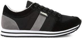 Karl Lagerfeld Bi-material trainers