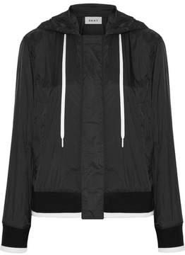 DKNY Hooded Shell Bomber Jacket - Black