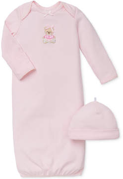 Little Me Baby Girls' 2-Piece Sweet Bear Hat & Gown Set