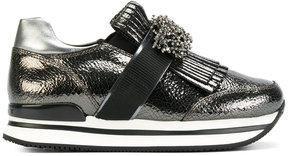 Hogan sequin and fringe detailed sneakers