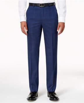 Sean John Men's Classic-Fit Dusty Blue Windowpane Stretch Pants