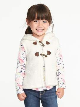 Old Navy Hooded Toggle-Button Vest for Toddler Girls