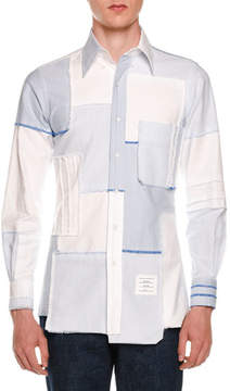 Thom Browne Patchwork Button Oxford Shirt