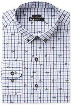 Bar III Men's Slim-Fit Stretch Easy Care Blue Sunglasses Gingham Print Dress Shirt, Created for Macy's