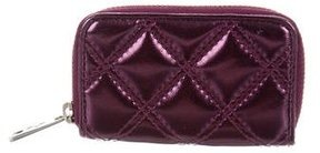 Marc Jacobs Quilted Coin Pouch - PURPLE - STYLE