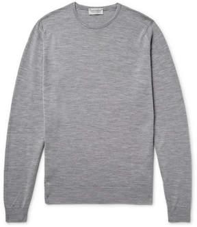John Smedley Lundy Slim-Fit Mélange Merino Wool Sweater