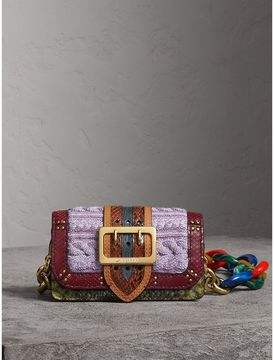 Burberry The Patchwork in Exotics and Knitted Wool Cashmere - COPPER GREEN - STYLE