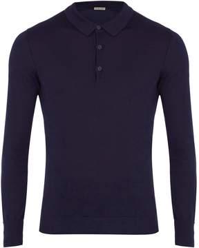 Bottega Veneta Long-sleeved cotton-blend polo shirt