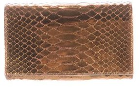 Carlos Falchi Metallic Python Shoulder Bag