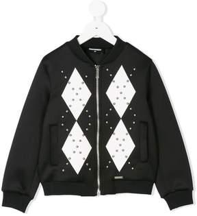 DSQUARED2 studded bomber jacket