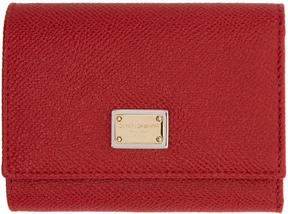 Dolce & Gabbana Red Small Foldover Wallet - RED - STYLE
