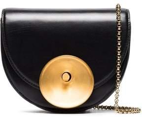 Marni black and gold Monile leather shoulder bag