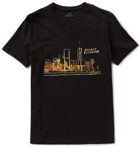Armani Exchange Skyline Short-Sleeve V-Neck Tee
