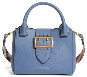 Burberry Small Buckle Leather Satchel - Blue - BLUE - STYLE