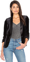 James Jeans Tuxedo Velvet Blazer in Black