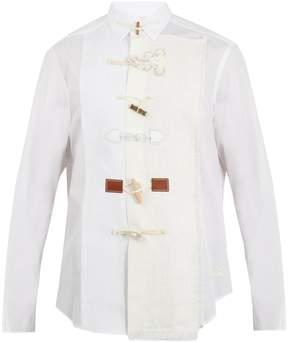 Loewe Toggle-front cotton-poplin shirt