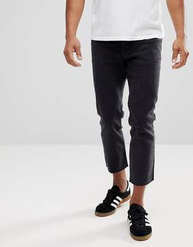 New Look Skate Fit Jeans In Black Wash