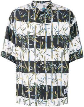 Kenzo striped bamboo printed shirt