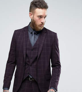 ONLY & SONS Skinny Suit Jacket In Check