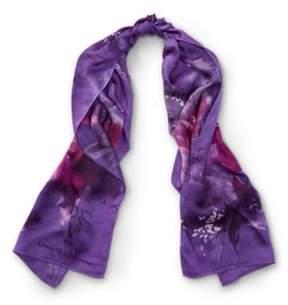 Ralph Lauren Claudette Floral Silk Scarf Dark Mulberry One Size