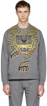 Kenzo Grey Geo Tiger Sweatshirt