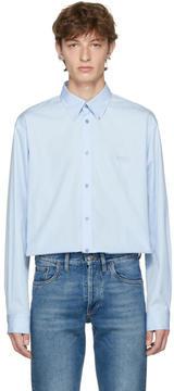 Balenciaga Blue Embroidered Homme Shirt