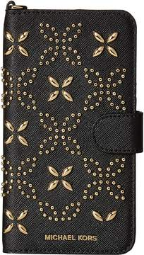 MICHAEL Michael Kors Electronic Leather Folio Phone Case Tab 7 Plus Cell Phone Case