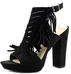Bar III Womens Nero Leather Open Toe Formal Strappy Sandals.