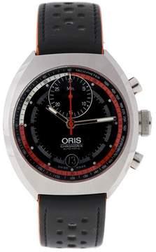 Oris Chronoris Cal 672 Stainless Steel Black Automatic Date 40mm Watch