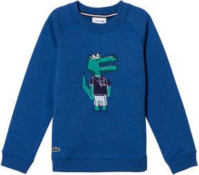 Lacoste Blue Crocodile Cartoon Print Sweater