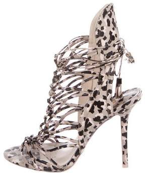Sophia Webster Printed Multistrap Sandals