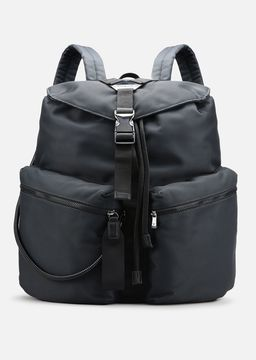 Emporio Armani cordura backpack with eco-leather details